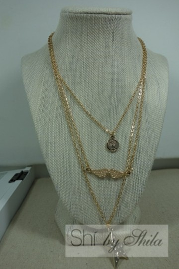 """Other """"Summer Wings"""" Three layered statement necklace"""