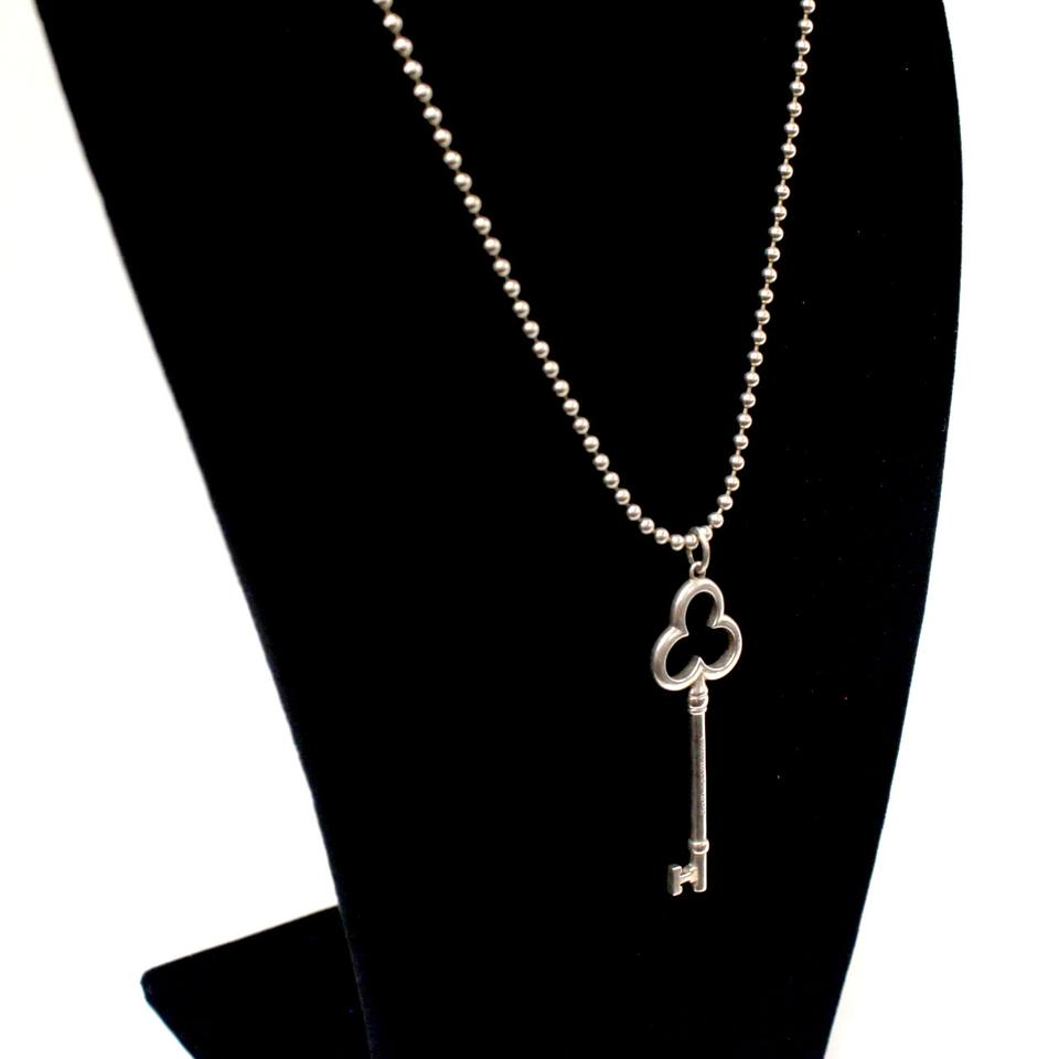 f826d0f18 Tiffany & Co. Silver 925 Sterling *rare* Clover Key and Chain Ltd ...