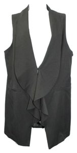 Bisou Bisou Black Vest Top