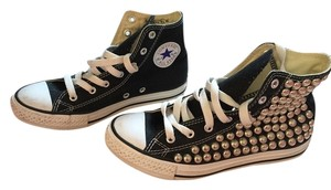 Converse Studded Hightops Canvas Black White Athletic