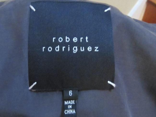 Robert Rodriguez Pleated Metallic Buttons Length Sleeves Wrinkle-resistant Size 6 Soft Grey Blazer