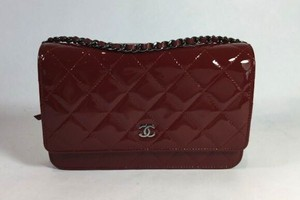 Chanel Wallet Chain Red Quilted Leather Cross Body Bag