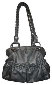 B. Makowsky Leather Tote in pewter