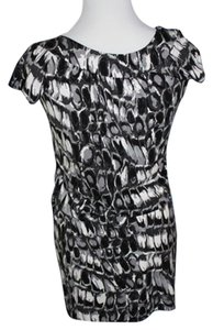 BCBGMAXAZRIA short dress Black, White & Gray on Tradesy