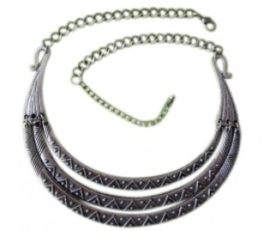 Preload https://item4.tradesy.com/images/forever-21-silver-sale-triple-tribal-collar-necklace-30898-0-0.jpg?width=440&height=440