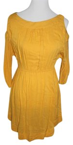 Picky Girl short dress Yellow on Tradesy