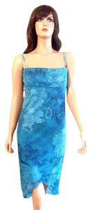 City Triangles short dress Blue Spaghetti Strap Floral on Tradesy