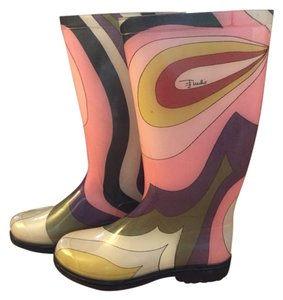 Emilio Pucci Pink Boots