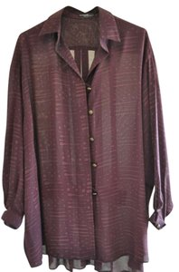 Bracci Button Down Shirt Burgundy / Purple