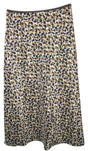 Talbots Skirt Brown leopard print