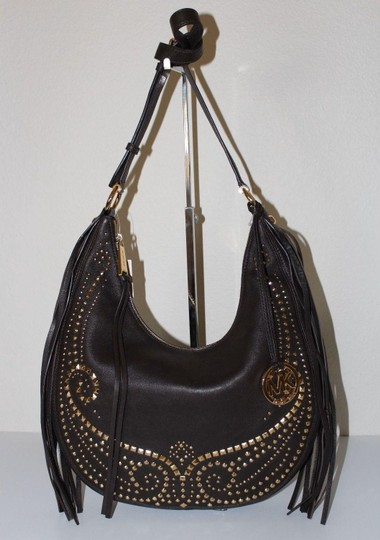 MICHAEL Michael Kors Rhea Studded Leather Medium Shoulder Cross Body Bag