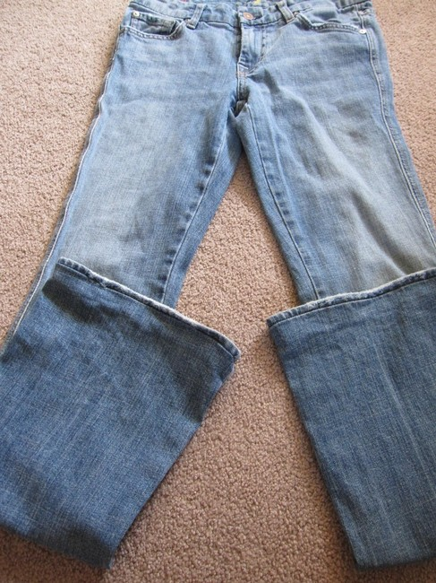 7 For All Mankind A Pocket Studded Boot Cut Jeans-Light Wash