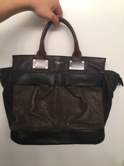 Rag & Bone And Brown Tote Pilot Satchel in Mocha