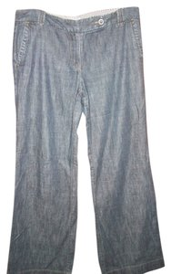 Ann Taylor LOFT Trouser/Wide Leg Jeans-Medium Wash