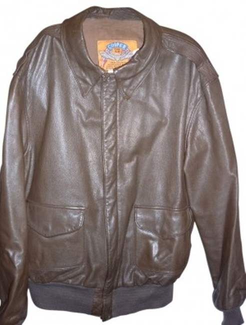 Preload https://item5.tradesy.com/images/brown-mens-46l-cooper-air-force-leather-jacket-size-20-plus-1x-30914-0-0.jpg?width=400&height=650