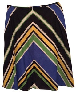 Alex Marie Skirt Multi Color Stripe Skirt