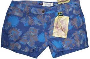 Vigald New Fun Cut Off Shorts blue flowered