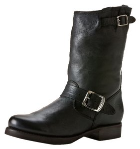 Frye Veronica Short Veronica Moto Moto Leather Leather Black Boots