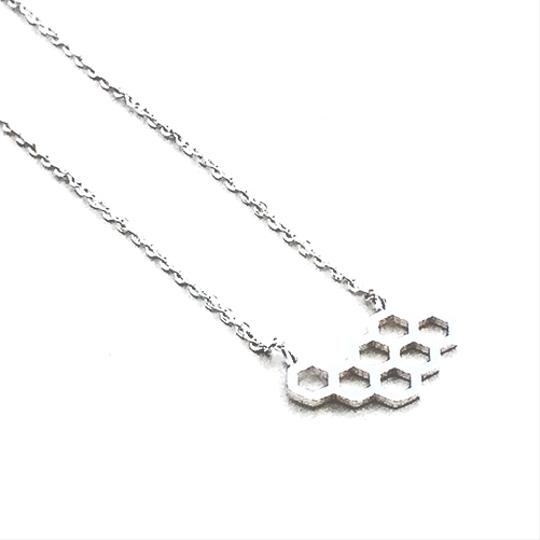 Other Sweet Honey Comb Necklace Silver