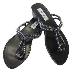 Steve Madden New Excellent Condition BLACK Sandals