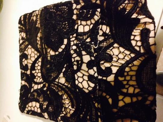 New York & Company Lace.black Evening Black And Creme Clutch