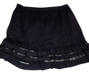 Anthropologie Mini Skirt Black