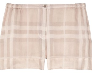Burberry Shorts Beige/Cream checked Pattern