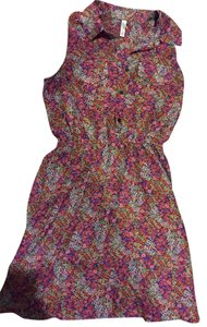Xhilaration short dress Pink Floral on Tradesy