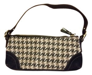 Coach Houndstooth Suede Never Worn Shoulder Bag