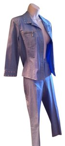 Carina Powder blue pant suit embellised with silver