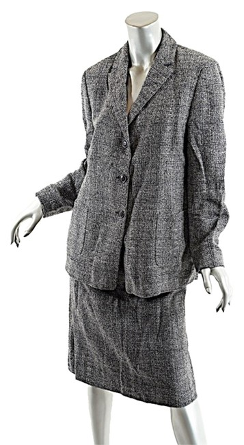 Preload https://item5.tradesy.com/images/luciano-barbera-black-and-white-blackwhite-wool-blend-tweed-wonderful-50us14-skirt-suit-size-14-l-3092674-0-0.jpg?width=400&height=650