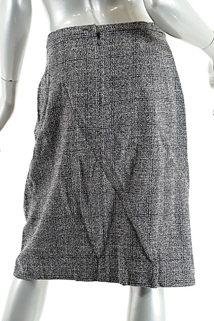 Luciano Barbera LUCIANO BARBERA Black/White Wool Blend Tweed Skirt Suit - WONDERFUL - Sz 50/US14