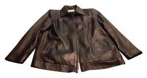 Preston & York black Leather Jacket