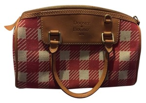 Dooney & Bourke Satchel in Pink and White Checkered