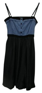 BCBGMAXAZRIA short dress BLUE/BLACK Velvet Ribbon Running Stich Fully Lined Silk on Tradesy