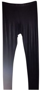 Betsey Johnson Leather Crinkle Pants Black Leggings