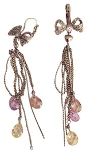 Juicy Couture Juicy Couture Silver Chain Dangling Earrings