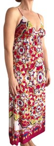 Magenta Boho Floral Mix Maxi Dress by Saks Fifth Avenue Maxi Spaghetti Straps