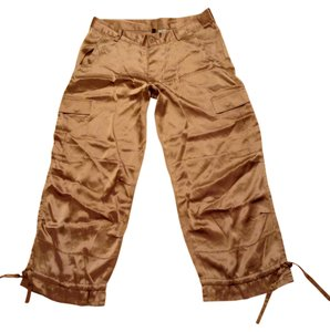 Capri/Cropped Pants Metallic Gold