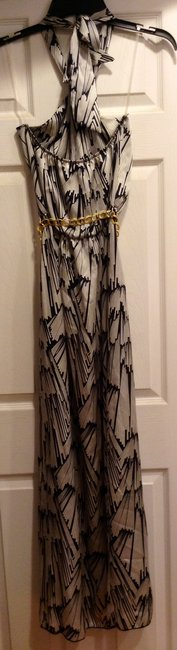 Ivory and Black Maxi Dress by Hello Miss