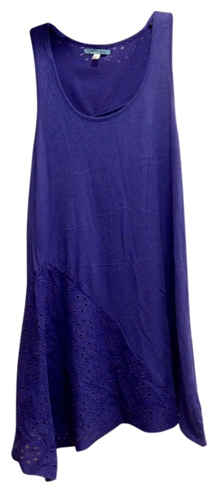 4fe3ff04415340 Anthropologie Periwinkle Leifnotes Asymetrical Small Tank Top Cami ...
