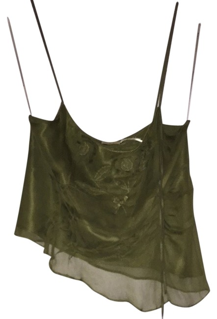 Max Studio Top Olive Green