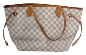 Louis Vuitton Neverfull Gm Check Tote in Damier Azur