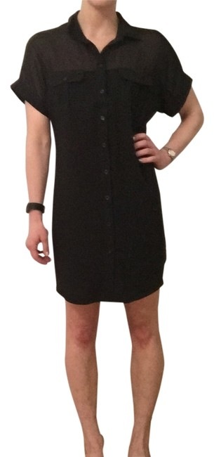 Item - Black Above Knee Short Casual Dress Size 4 (S)