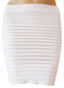 HangHong Seamless Stretch Mini Mini Skirt White