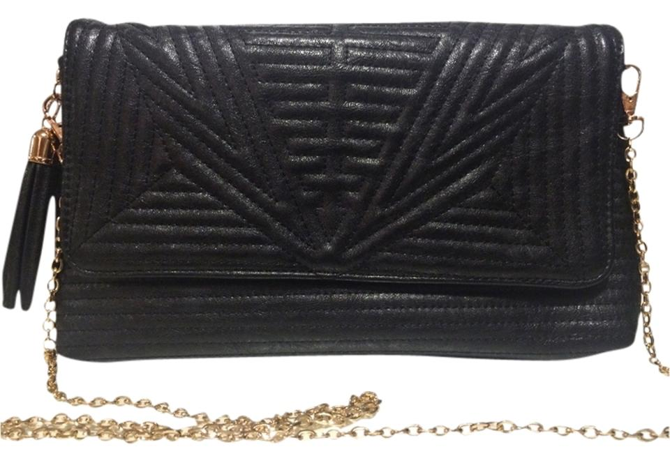 ace7d7060d Nordstrom Crossbody/Clutch Black with Gold Accents Vegan Leather Cross Body  Bag