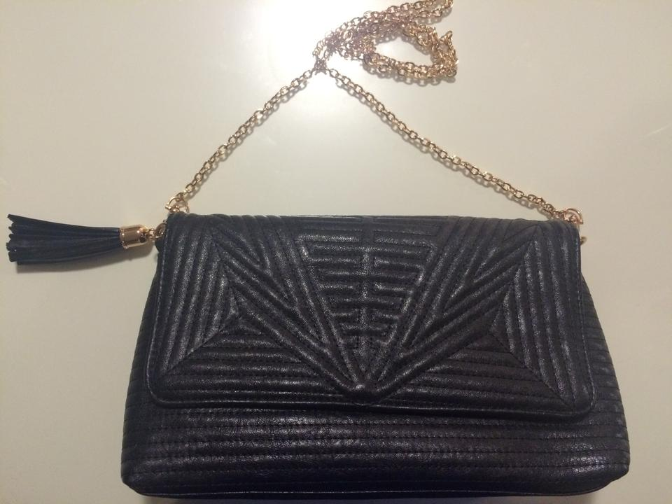 8285ebbdcb Nordstrom Crossbody/Clutch Black with Gold Accents Vegan Leather ...