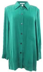Josephine Chaus Josephine Chaus Woman Designer Emerald Green Buttoned Down Career Shirt Size 14