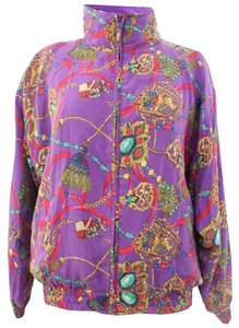 Rhoda Lynne Purple Printed Jacket