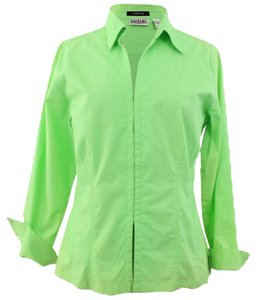 JeanBill Blass s JeanBill Blass s Woman Designer Green Cotton Collared Casual Shirt Size L